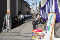 7・26 田辺の模擬原爆 追悼式の様子