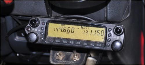 自動車に開設された不法無線局