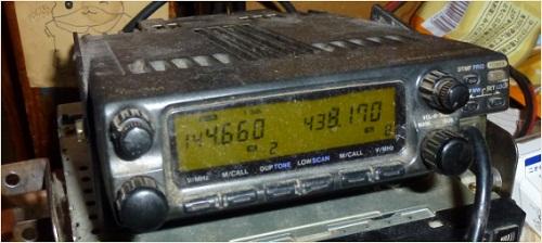 自宅に開設された不法無線局